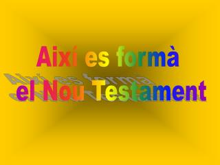Aix� es form�  el Nou Testament