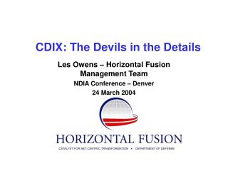 CDIX: The Devils in the Details