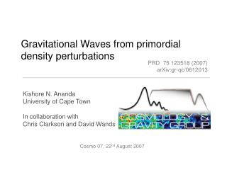 Gravitational Waves from primordial density perturbations