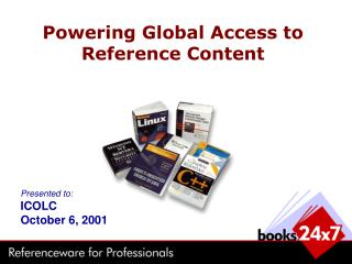 Powering Global Access to Reference Content