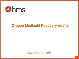 Oregon Medicaid Recovery Audits
