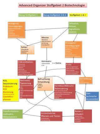 Advanced  Organizer Stoffgebiet 2 Biotechnologie