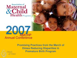 Promising Practices from the March of Dimes Reducing Disparities in Premature Birth Program