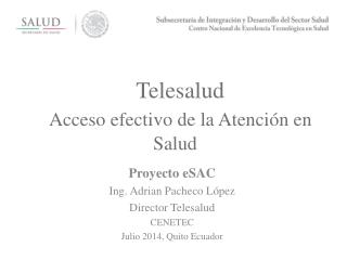 Telesalud Acceso efectivo de la Atención en Salud