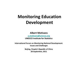 Monitoring Education Development