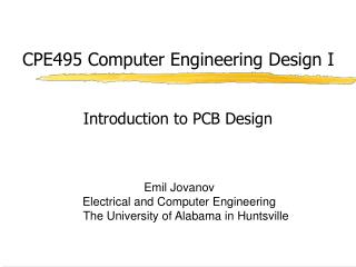 CPE495 Computer Engineering Design I