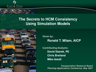 The Secrets to HCM Consistency  Using Simulation Models