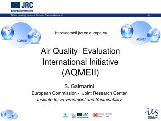 Air Quality  Evaluation   International Initiative (AQMEII)