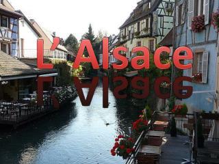 L'Alsace se trouve  à  l'Est  de la France  et à la frontière  de l'Allemagne.