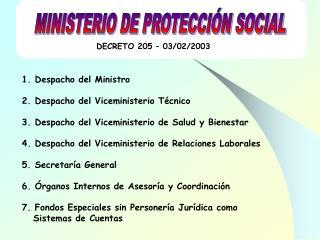 DECRETO 205 � 03/02/2003