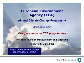 European Environment Agency (EEA)