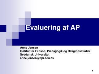 Evaluering af AP
