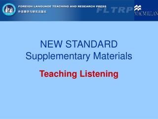 NEW STANDARD Supplementary Materials