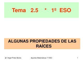 Tema   2.5    *   1�  ESO