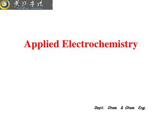 Applied Electrochemistry