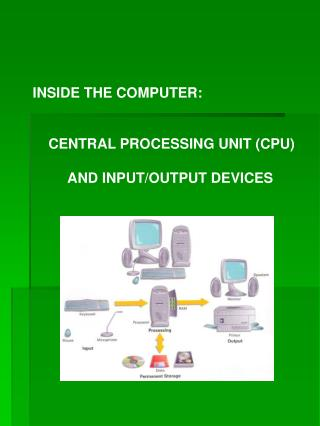 INSIDE THE COMPUTER:     CENTRAL PROCESSING UNIT (CPU)