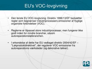 EU's VOC-lovgivning