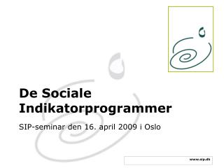 De Sociale Indikatorprogrammer