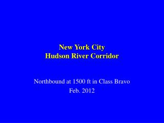 New York City Hudson River Corridor