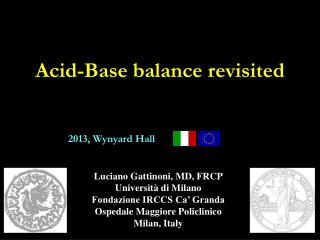 Acid-Base balance revisited