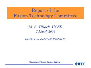 Report of the  Fusion Technology Committee