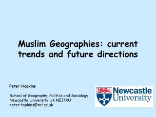 Muslim Geographies: current trends and future directions