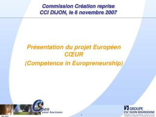 Commission Cr�ation reprise CCI DIJON, le 6 novembre 2007
