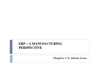 Chapter # 4, Alexis Leon