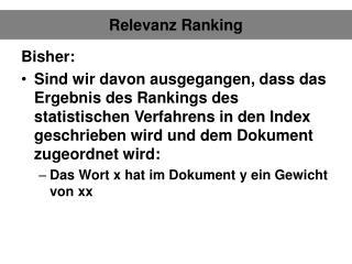 Relevanz Ranking