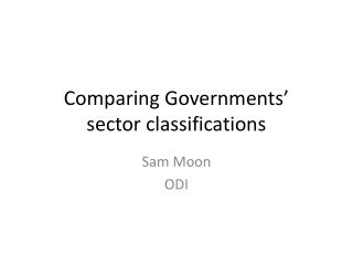 Comparing Governments�  sector classifications