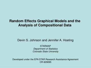Random Effects Graphical Models and the Analysis of Compositional Data