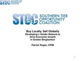 Buy Locally, Sell Globally Developing a Vendor Network to  Drive Economic Growth