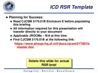 ICD RSR Template