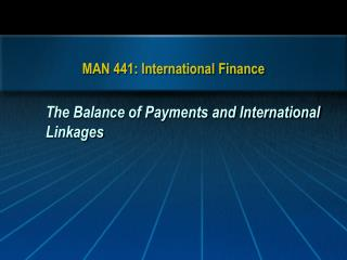 MAN 441: International Finance