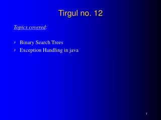 Tirgul no. 12