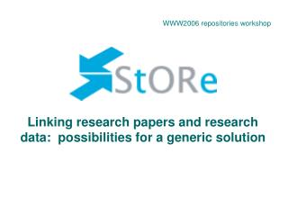Linking research papers and research data:  possibilities for a generic solution