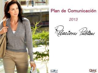 Plan de  Comunicaci�n
