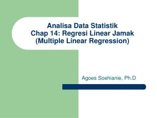 Analisa Data Statistik Chap 14: Regresi Linear Jamak  (Multiple Linear Regression)