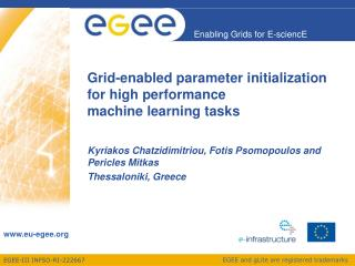 Grid-enabled parameter initialization for high performance  machine learning tasks