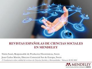 revistas españolas de ciencias sociales en  mendeley