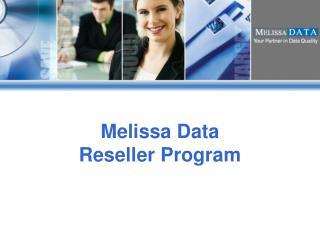 Melissa Data Reseller Program