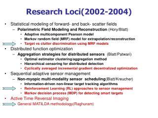 Research Loci(2002-2004)