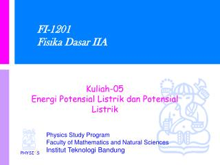 FI-1201 Fisika Dasar IIA