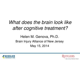 What does the brain look like after cognitive treatment?