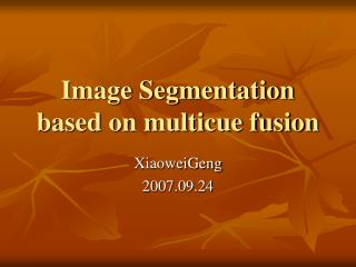 Image Segmentation based on multicue fusion