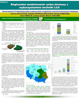 Zadanie 2 Regionalne modelowanie rynku biomasy z wykorzystaniem techniki LCA