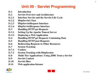 Unit 09 - Servlet Programming