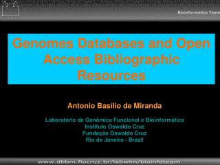 Genomes Databases and Open Access Bibliographic Resources