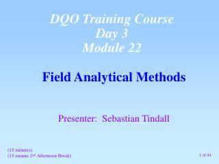Field Analytical Methods
