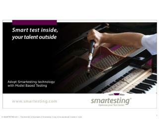 Adopt  Smartesting  technology with  Model  Based Testing